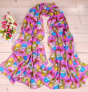 Womens cartoon character scarf