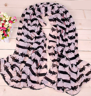 Cute Cats Printed women scarf