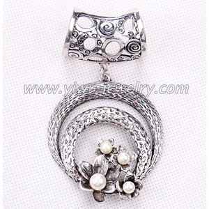 Alloy pearl pendant scarves buckle