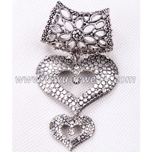 Heart shaped necklace parts and accessory