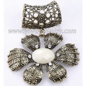 Petals alloy scarf buckle fashion accessory