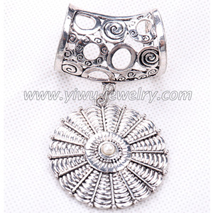 Disc alloy pearl scarf buckle