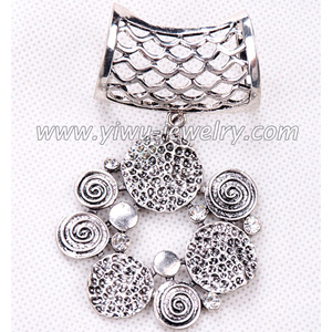 Flower shaped alloy pendant scarf accessories