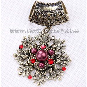 Pearl snowflake pendant scarves accessories