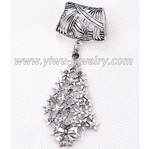 Christmas star metal pendant scarf accessories