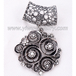 Rose pearl pendant parts and accessories