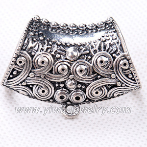 Zinc alloy scarves pendant slider parts