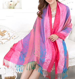 Gradient stripe scarf wholesale