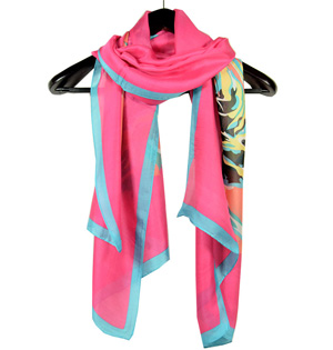 Top selling floral silk scarf