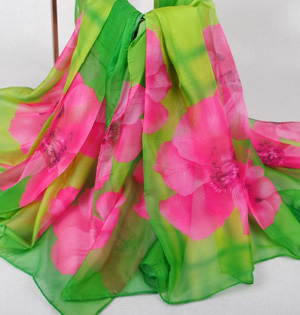 Wholesale floral silk scarf