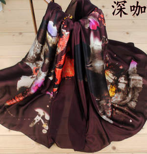 Check silk satin scarf wholesale