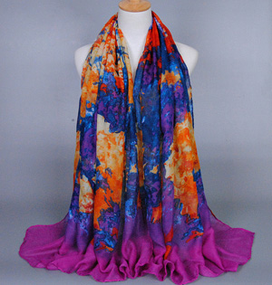 Hand painted scarf wholesale