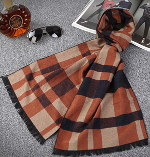 Wholesale mens fringe cotton scarf