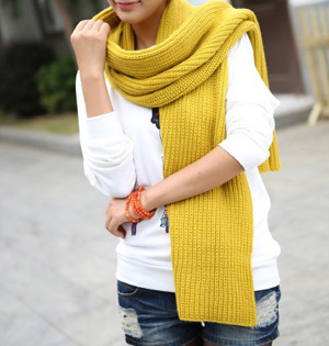 Wholesale knitted wool scarf