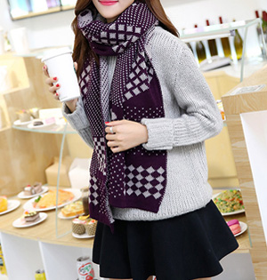 Plaid wool scarf wholesale