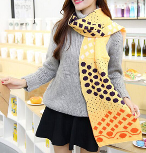 Wholesale dot wool scarf