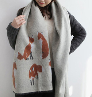Animal print cashmere scarf wholesale