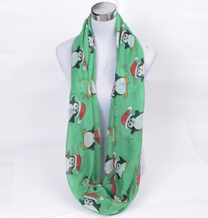Wholesale christmas silk scarves