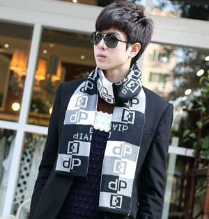 Mens scarf fashion winter wool