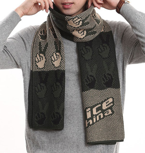 Mens scarf knit