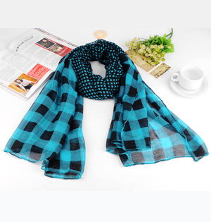 Cotton voile scarves shawls