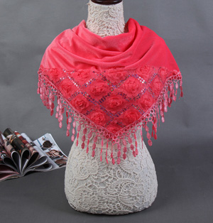 Wholesale red silk scarf