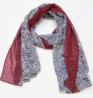 Wholesale women voile printed scarf