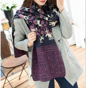 Women wool winter scarf