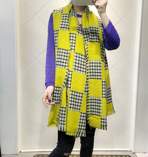 Houndstooth plaid scarf wholesale