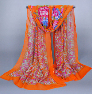 Wholesale painted silk scarf
