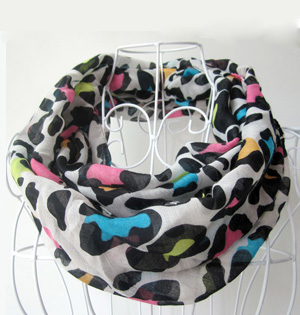 Childs leopard scarf wholesale