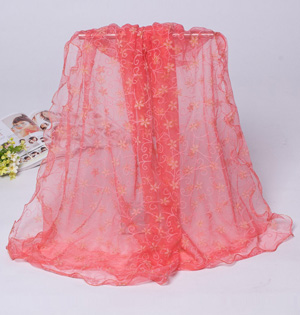 Wholesale floral lace scarf