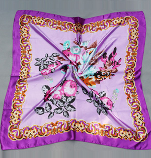 Wholesale silk square scarf women