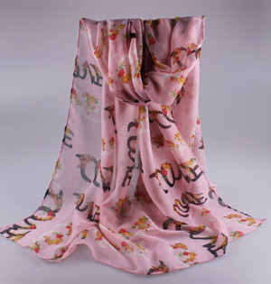 Wholesale viscose cotton lace scarf