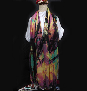 Wholesale silk polyester twill scarf