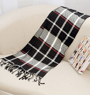 Wholesale plaid cashmere scarf