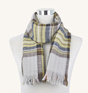 Wholesale plaid kid scarf