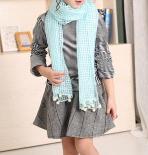 Wholesale kids cotton gauze scarf