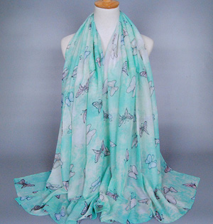 Wholesale cotton scarf butterfly